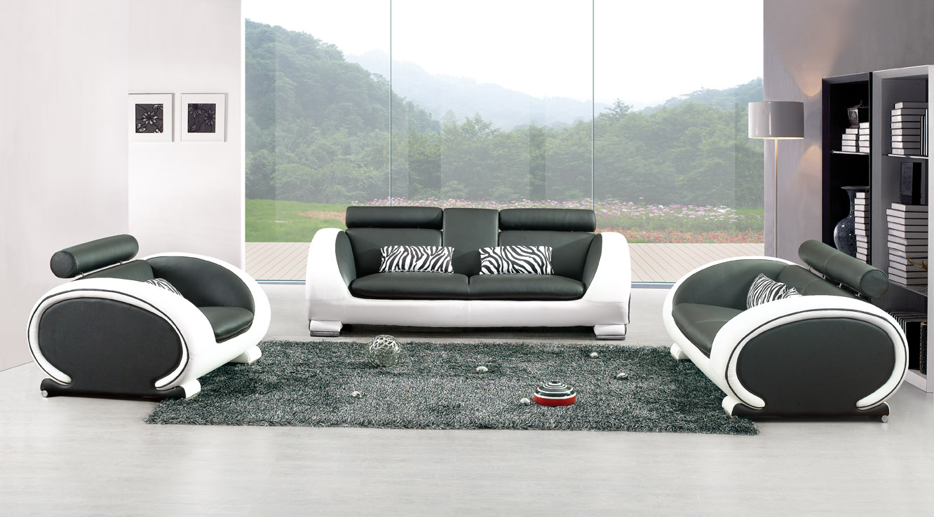 canape design blanc et noir. Black Bedroom Furniture Sets. Home Design Ideas